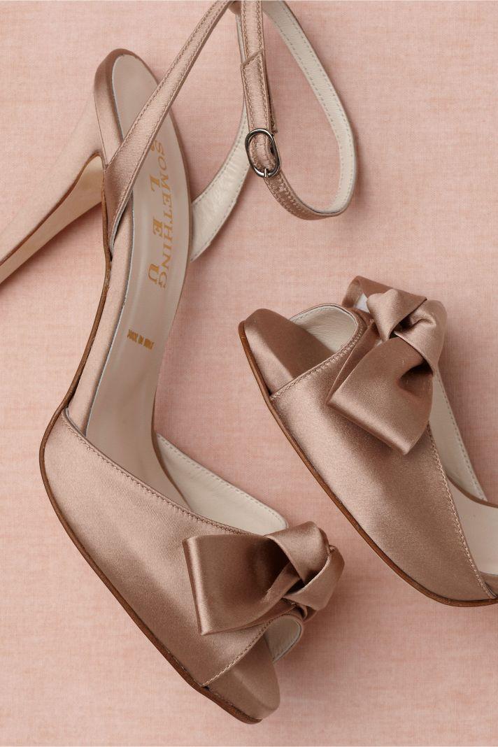 Retro Wedding Shoes from BHLDN mauve satin