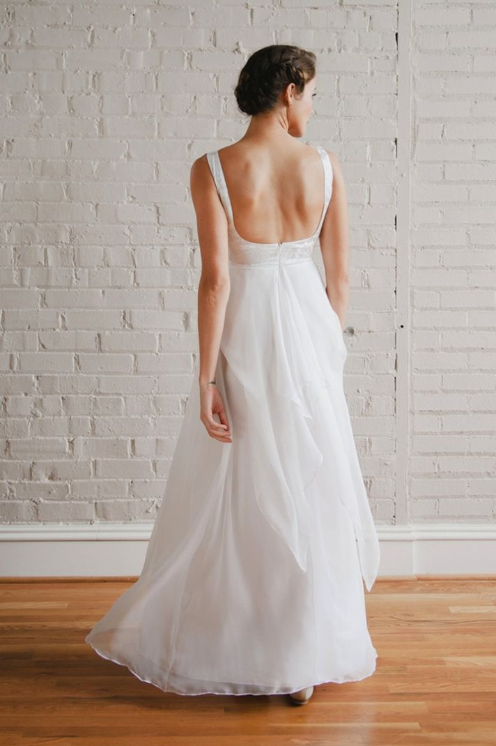 Simple LWD for wedding reception slit back