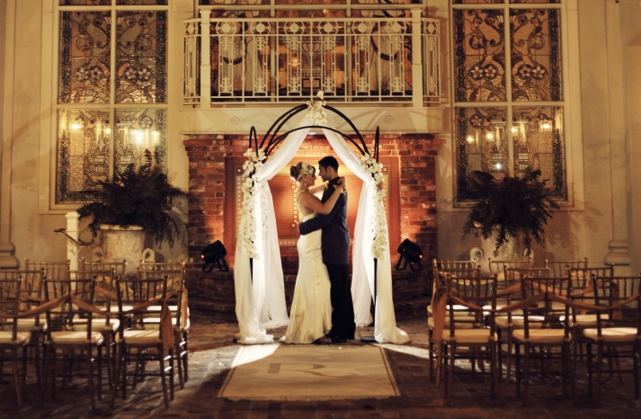 Vintage Inspired Wedding Ceremony Ornate Venue