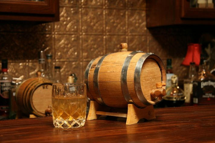Engraved Whiskey Barrel for Grooms Valentines Day Gifts