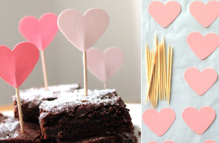 DIY Wedding Kits on Etsy Heart Cupcake Toppers