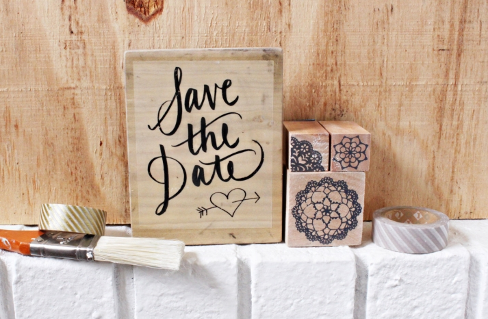 DIY Wedding kit for rustic save the dates