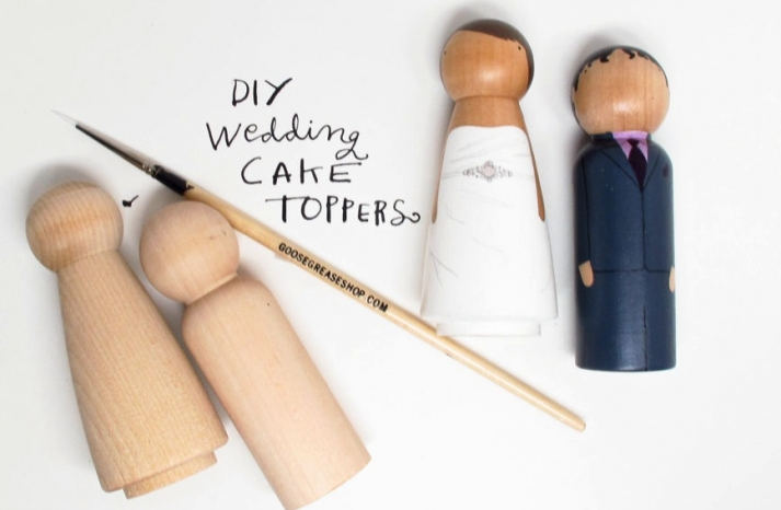 DIY Wedding Cake Toppers Cute