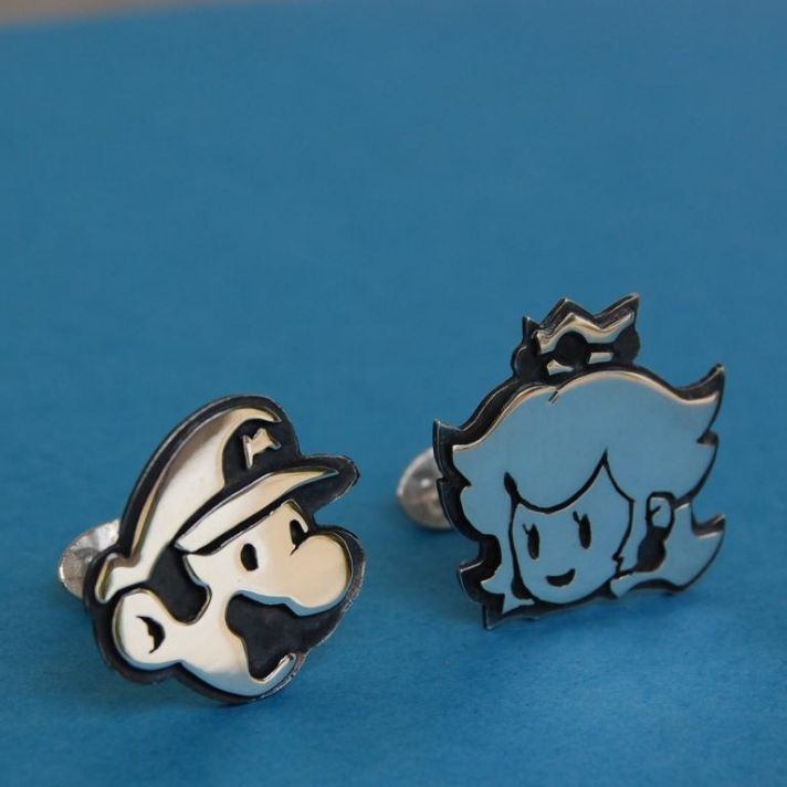 Super Mario Bros Grooms Cuff Links