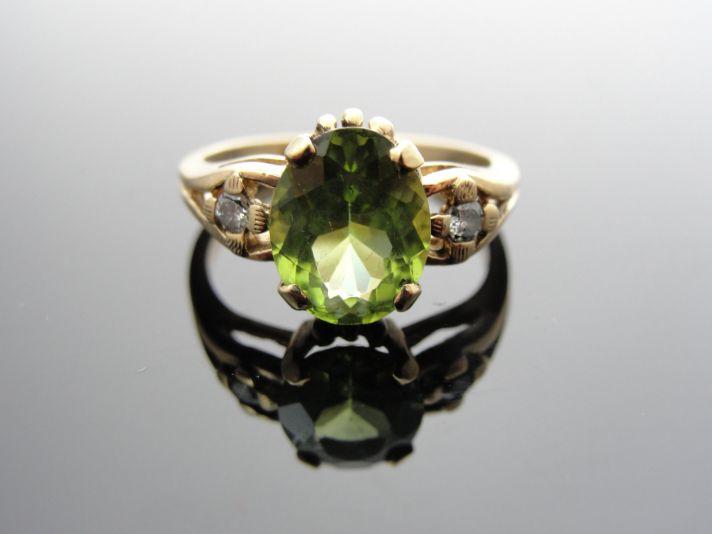 Peridot engagement ring vintage