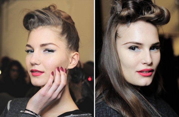 Badgley Mischka Fall 2013 Wedding Hair Makeup Inspiration