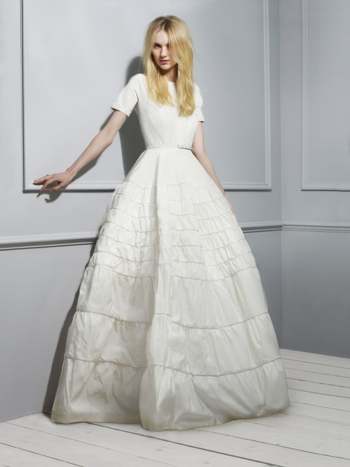 Rochas Taffeta Wedding Dress 2013 Exclusive Bridal Designer Collection from Net a Porter