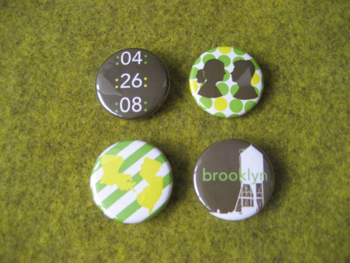 custom buttons for wedding guest favors