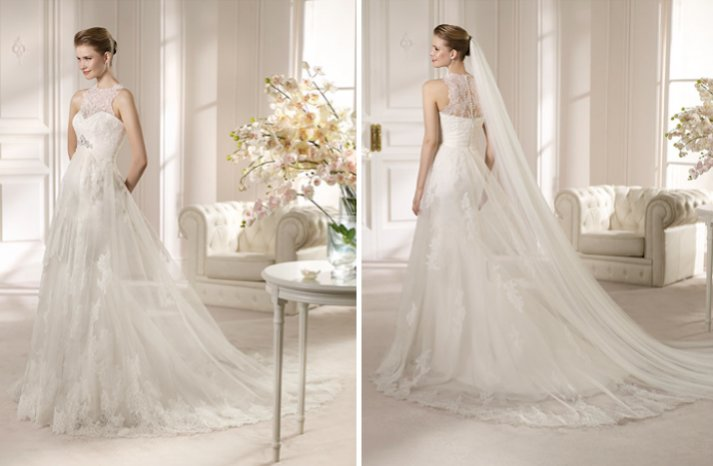 2013 Wedding Dress San Patrick Bridal Costura collection Amalia lace
