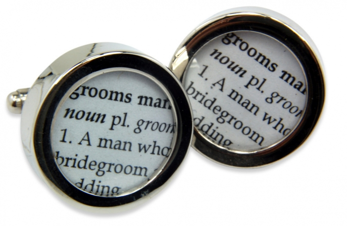 Groomsman cuff links to pop the question