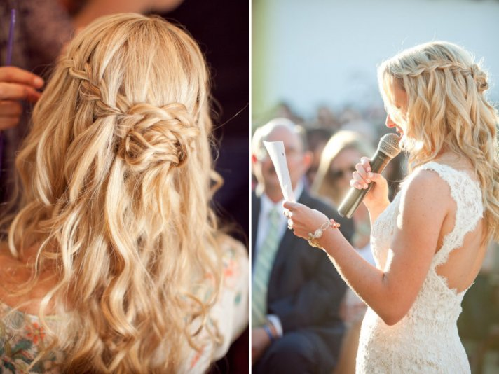 Braided wedding hairstyle bridal beauty 1