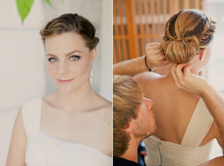 Braided wedding hairstyle bridal beauty 3