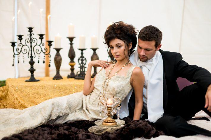 Anna Karenina Vintage Wedding Inspiration Lounge Setup