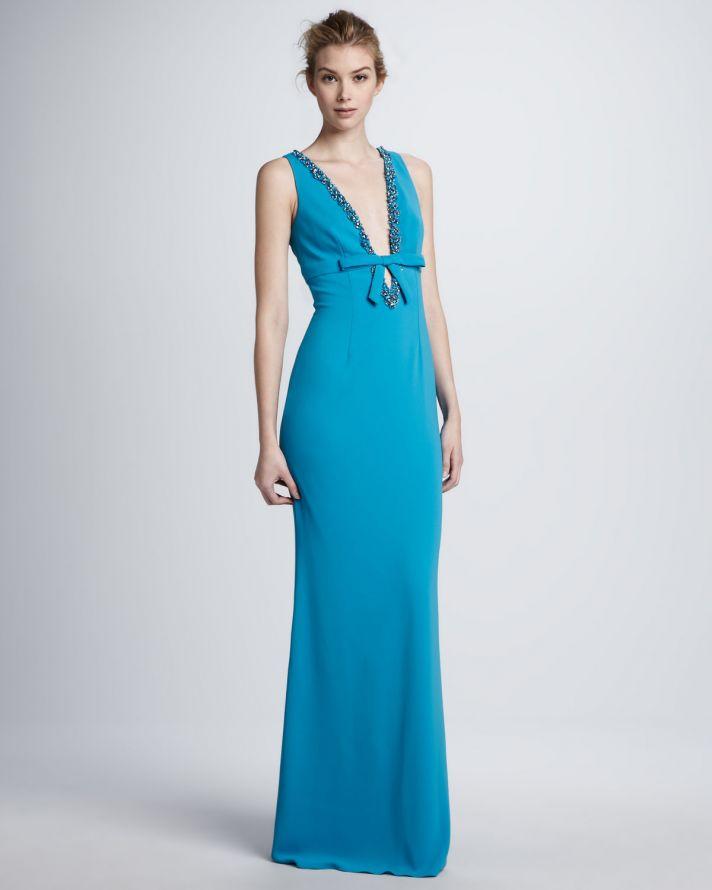 Wedding Dress With Turquoise Sash 97 Trend Deep aqua long bridesmaid