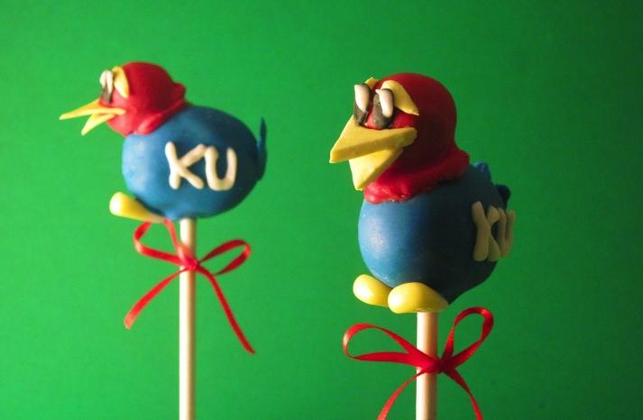 March Madness Wedding Ideas KU Cake Pops