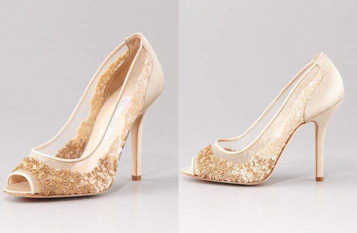 Illusion wedding shoes for 2013 brides Oscar de la Renta