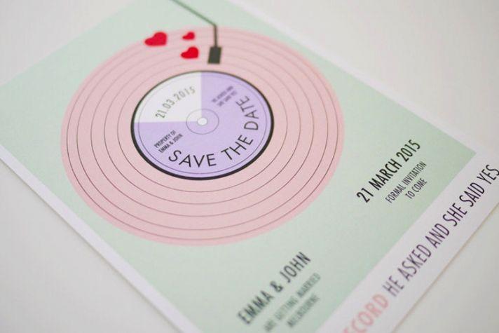 Wedding Stationery Spotlight Three Eggs Design Pastel Save the Date original