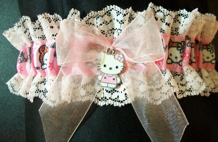 Lacy Hello Kitty Wedding Garter
