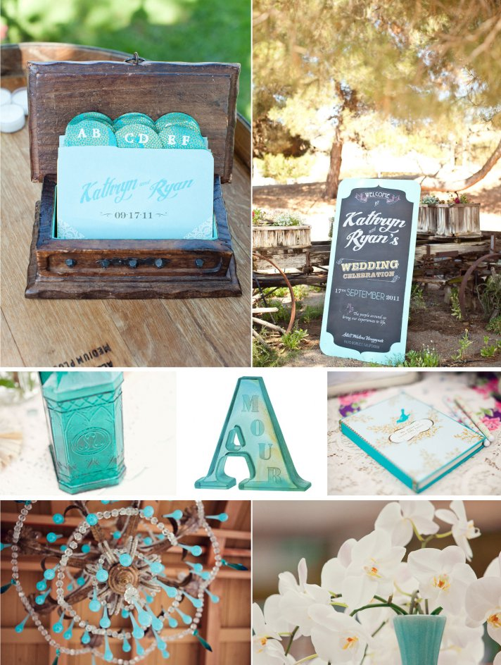 Turquoise teal wedding inspiration