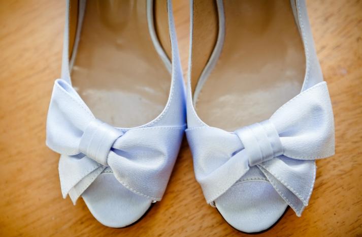 Powder-blue-wedding-shoes-with-pretty-bows