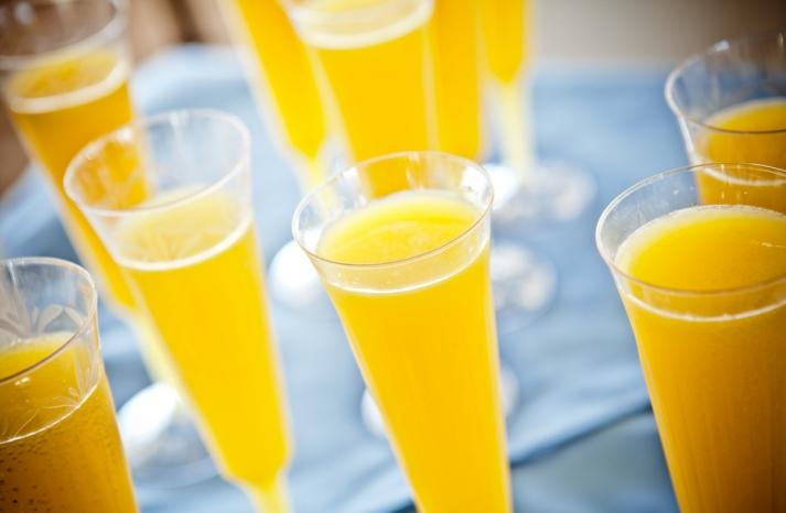 Bright Mimosa Signature Wedding Drinks