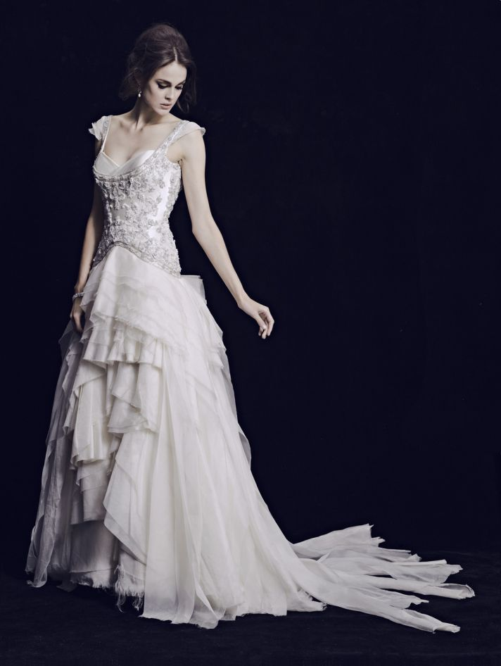 Three divine 2013 wedding dress collections onewed for Where can i get my wedding dress steamed
