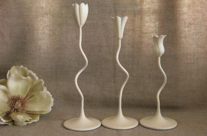 Unique tulip candle holders for wedding receptiob