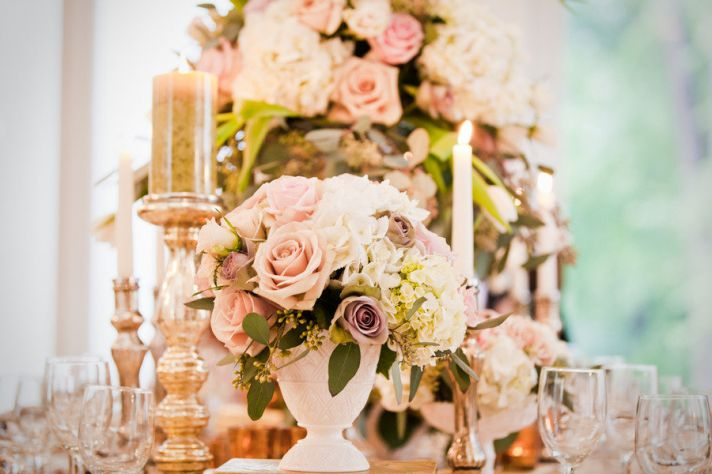 Romantic Opulence Spring Wedding Reception Tablescape