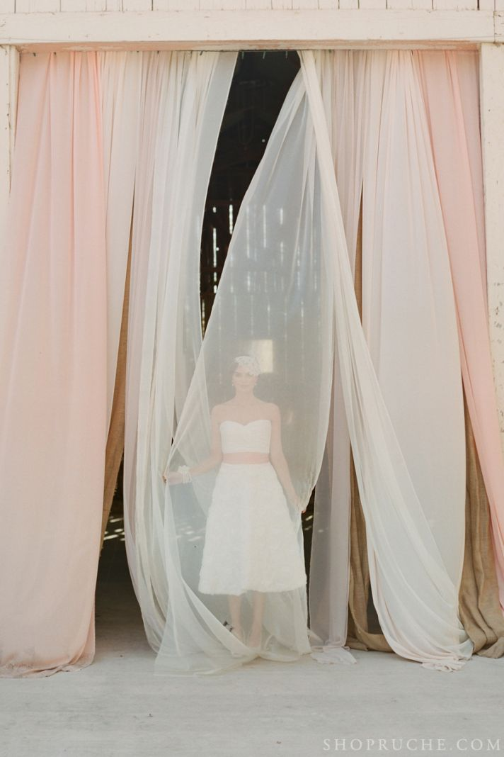 Texture rich bridal bolero and wedding gown