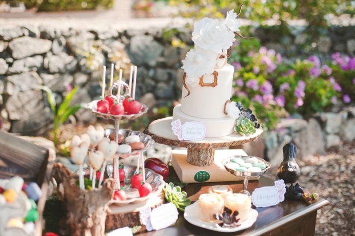 Candy apple wedding cake pops