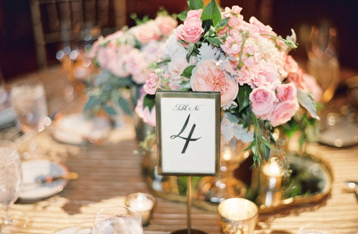 spring wedding centerpiece elegant table numbers