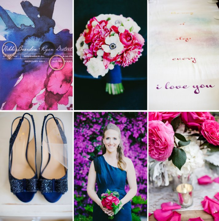 Navy Fuschia Plum wedding color inspiration