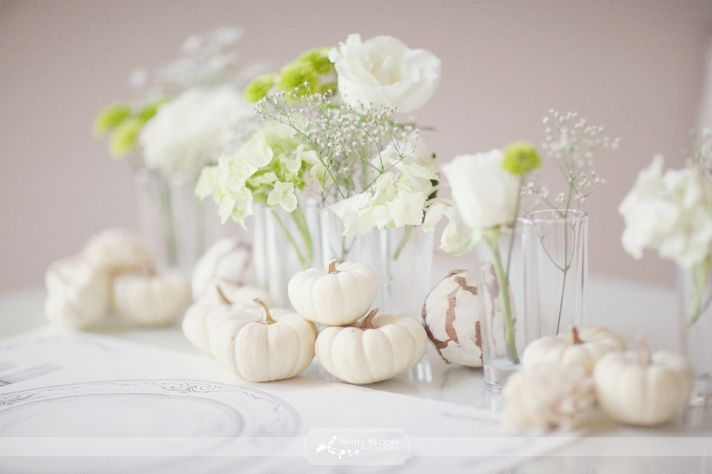 ivory and green wedding tablescape Ruffled inspiration