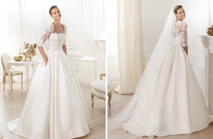 Pronovias wedding dress pre 2014 bridal costura Leslie