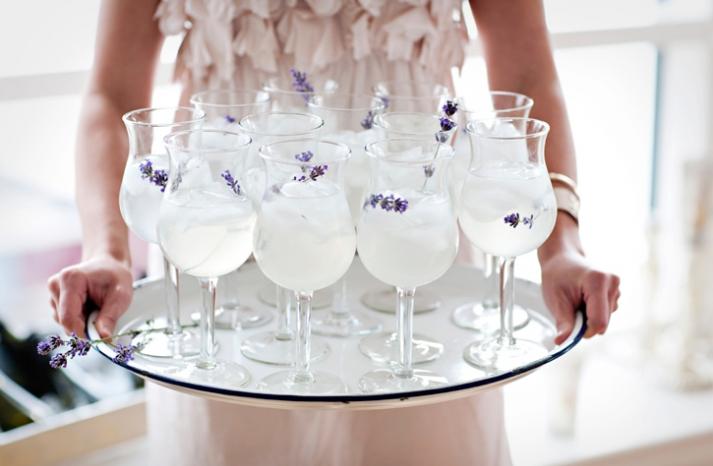 Lavender signature wedding cocktails