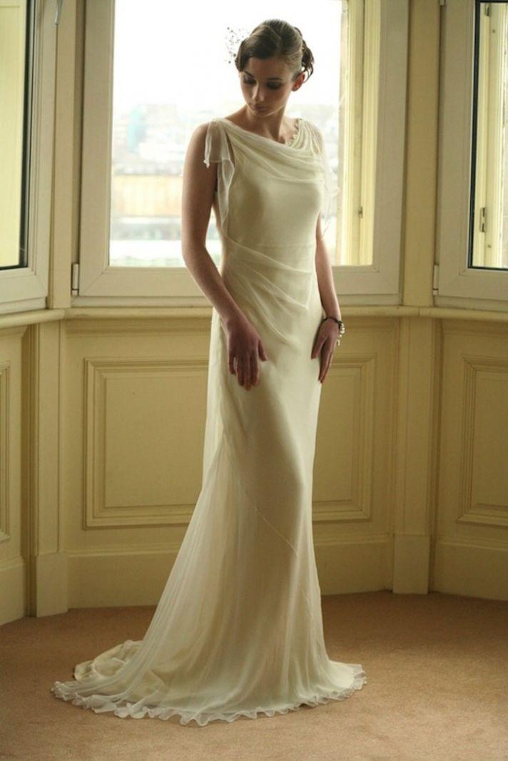 Bias cut wedding dress for Gatsby brides