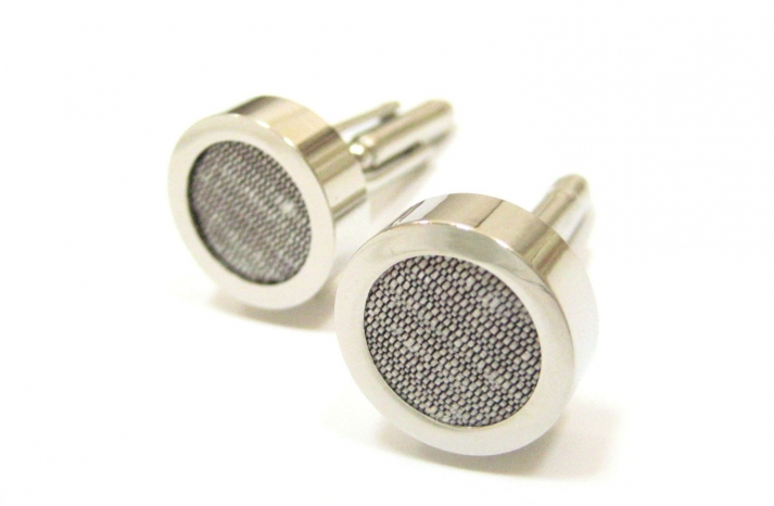 gray silver grooms cuff links