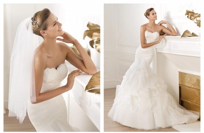 Pronovias wedding dress pre 2014 bridal Dreams collection Ledurne