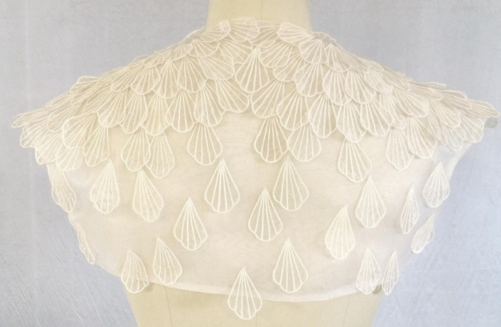 shell applique bridal bolero