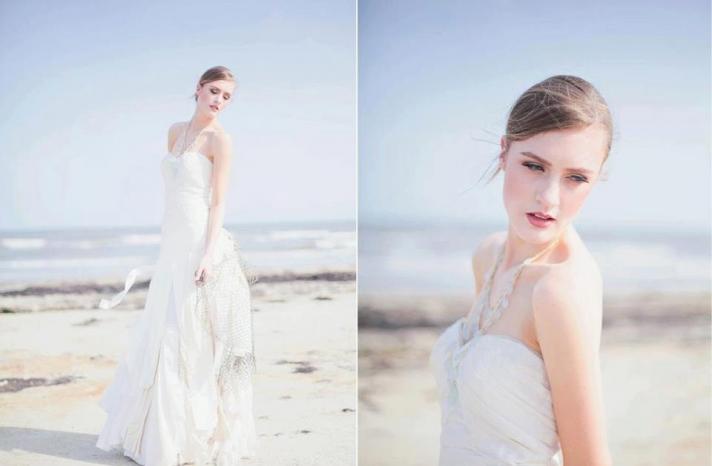 Eco friendly wedding dress for beach I Dos