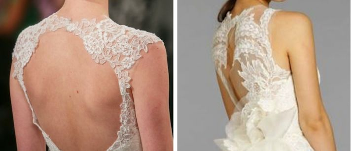 6 lace wedding dress trends spring 2014 fall 2013 portrait backs