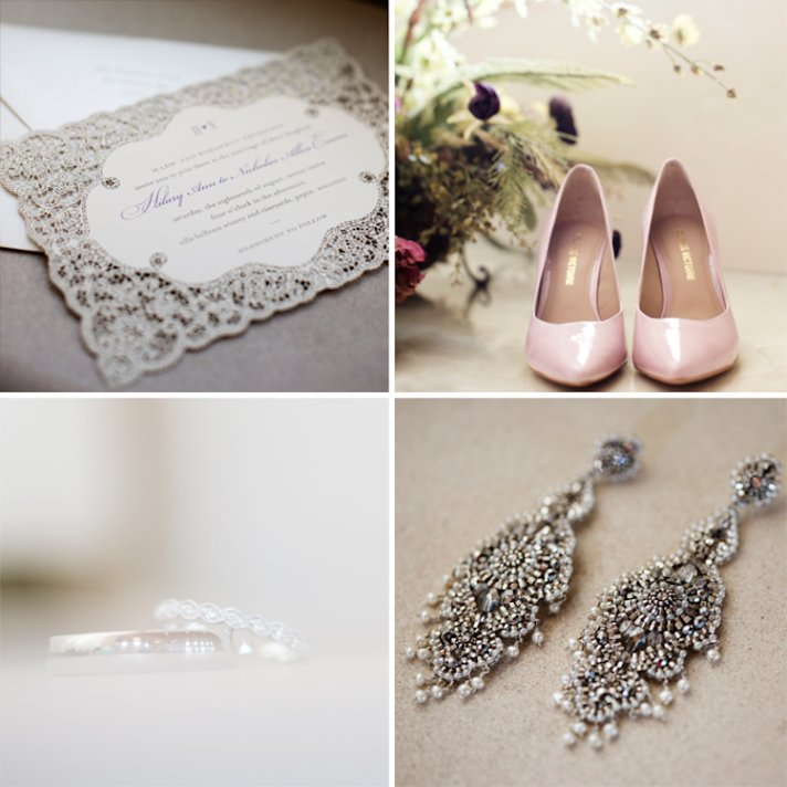 Winery wedding in IL bridal style details