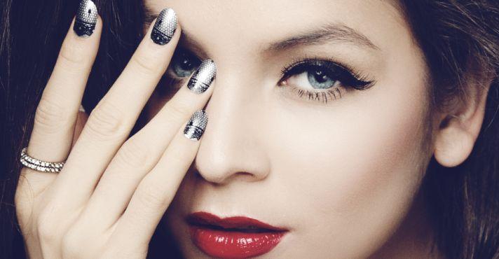 Wedding manicures lace nails