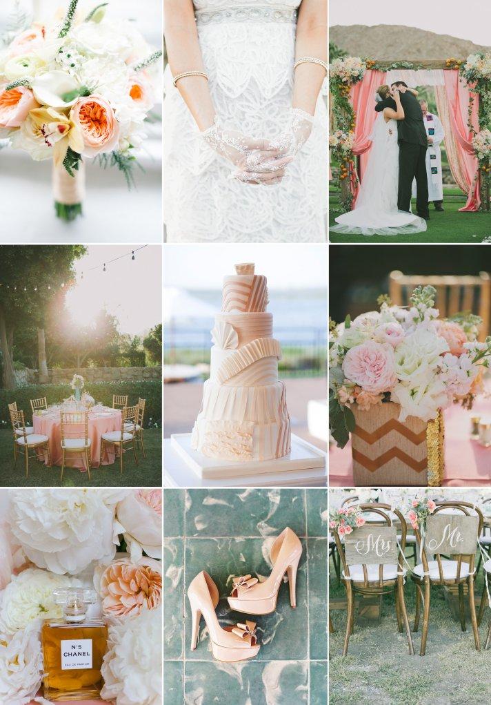 Summer wedding color inspiration peachy dreams