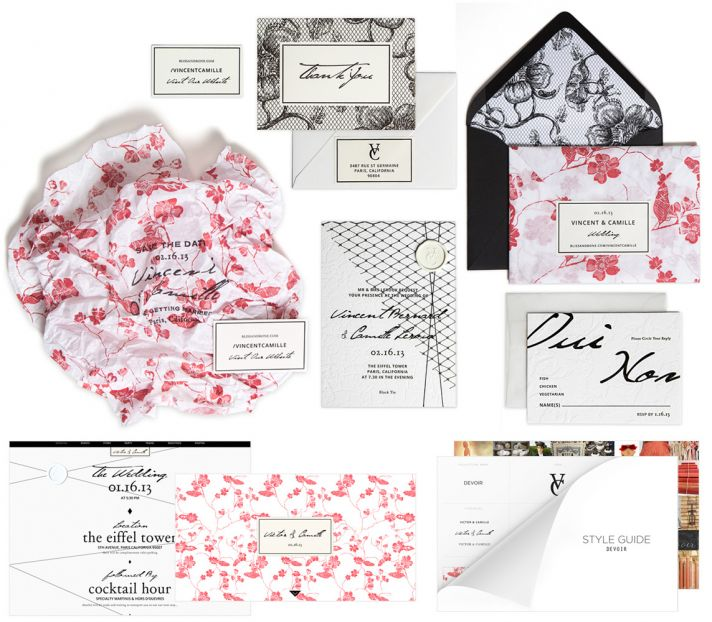 Bliss and Bone Wedding Collection Devoir stationery