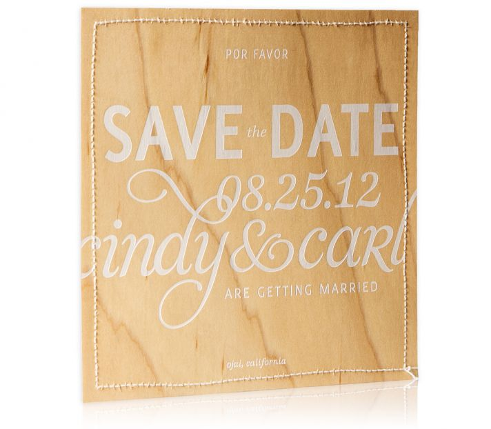 Bliss and Bone Wedding Collection customized invitations Prana