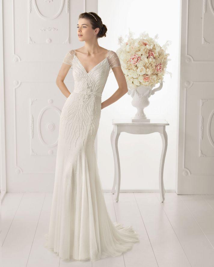 Aire Barcelona wedding dress 2014 Bridal Opalina