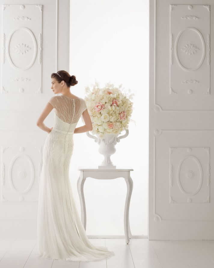 Aire Barcelona wedding dress 2014 Bridal Opalina