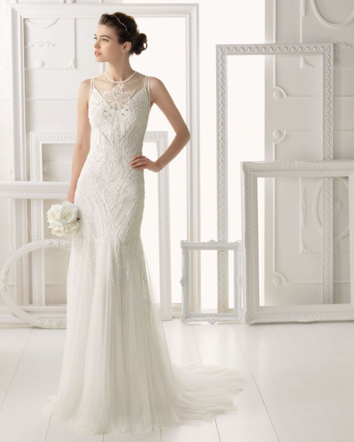 Aire Barcelona wedding dress 2014 Bridal Omeya