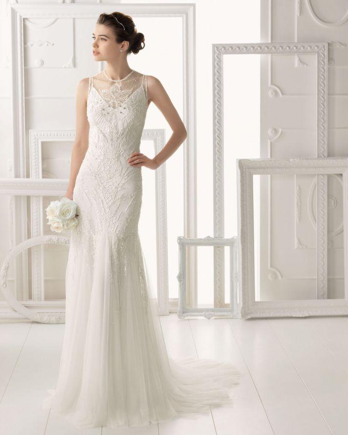 Aire Barcelona wedding dress 2014 Bridal Omeya